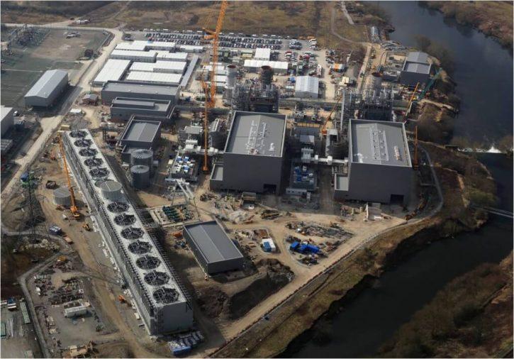 Výstavba paroplynové elektrárny Carrington