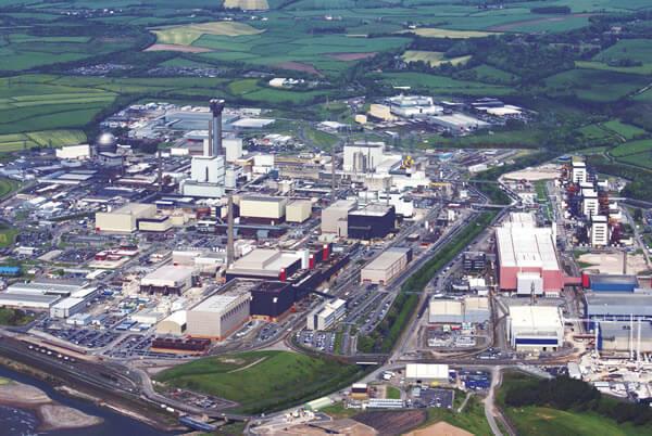 Areál britské JE Sellafield