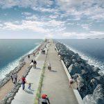 Grafický návrh hráze u projektu Swansea Bay. Zdroj: Tidal Lagoon PowerPA