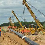 Výstavba plynovodu
