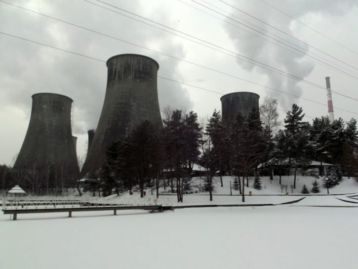 Zasněžená elektrárna