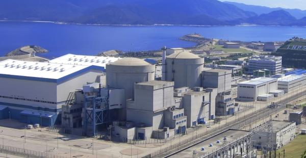 Jaderná elektrárna Fang-čcheng-kang v západní Číně.