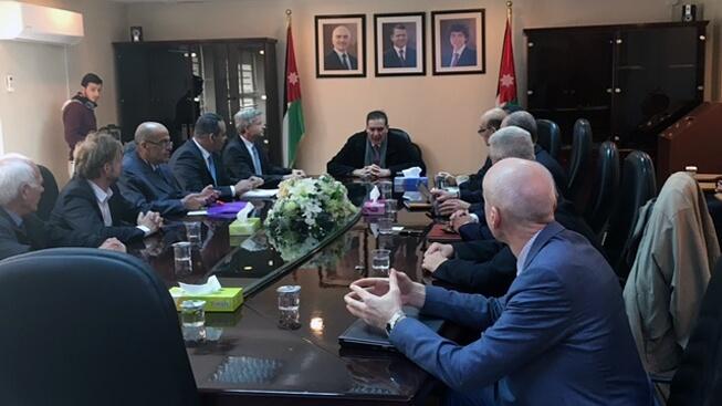 Zasedání expertů MAAE s odborníky z Jordánské komise pro atomovou energii; Zdroj: Jordan Atomic Energy Commission