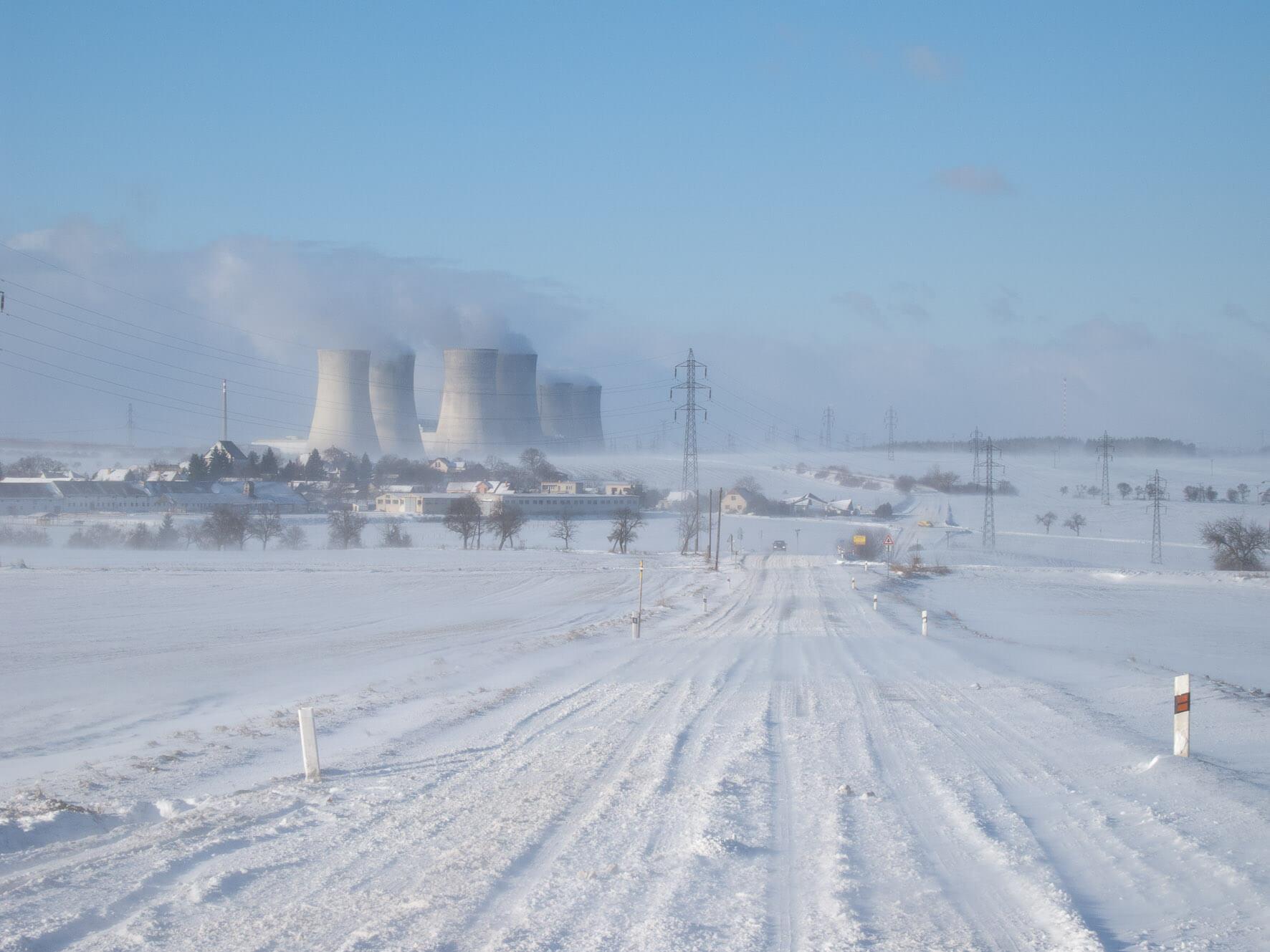 Provozovaným jaderným blokům se díky mrazivému počasí daří a vyrábí více elektrické energie; Zdroj: Archiv EDU