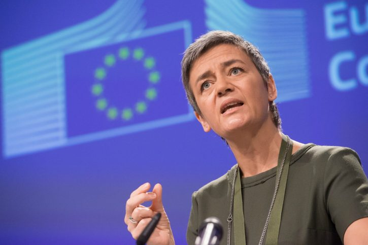 Margrethe Vestager, komisařka pro hospodářskou soutěž v rámci EU. zdroj: www.euractiv.com