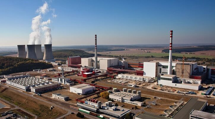 Areál jaderné elektrárny Mochovce. Zdroj: Slovenské Elektrárne