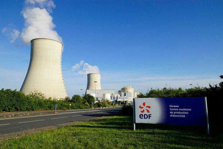 Francouzská jaderná elektrárna Civaux provozovaná společností EDF