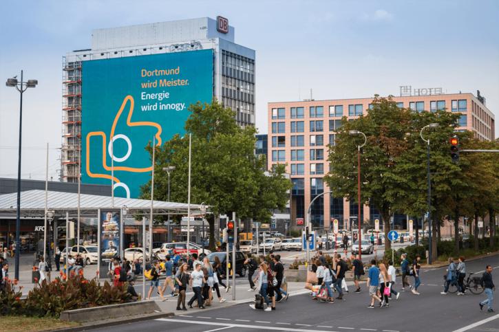Billboard innogy v německém Dortmundu. Zdroj: innogy