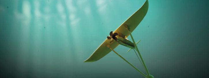 Minesto Deep Green Sea Kite přílivová technologie, elektrárna. Zdroj minesto