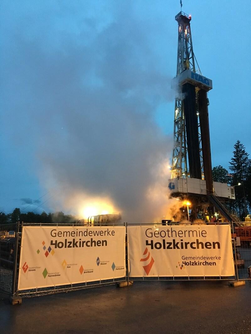 Geotermální projekt v Bavorském Holzkirchenu. Zdroj: Geothermie Holzkirchen