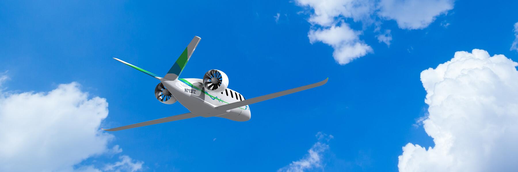 Zunum Aero hybridní elektrická letadla. Zdroj Zunum Aero