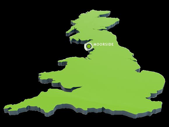 Oblast plánované výstavby třech nových reaktorů AP-1000 v Moorside; Zdroj: NuGen