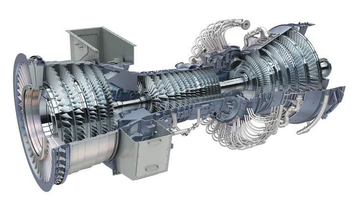 Plynová turbína LM6000. Zdroj: GE
