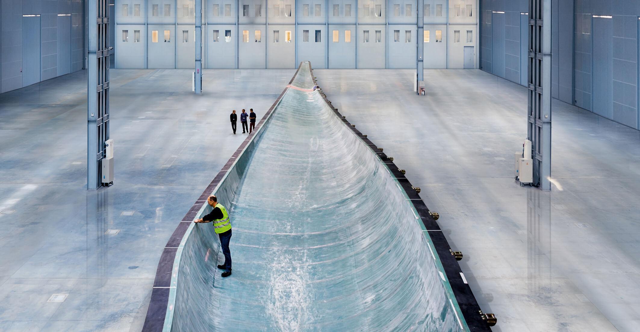List s označením B75 je největší sklolaminátová odlitek na světě. Výrobní proces představoval pro projektový tým několik výzev. Zdroj: Siemens