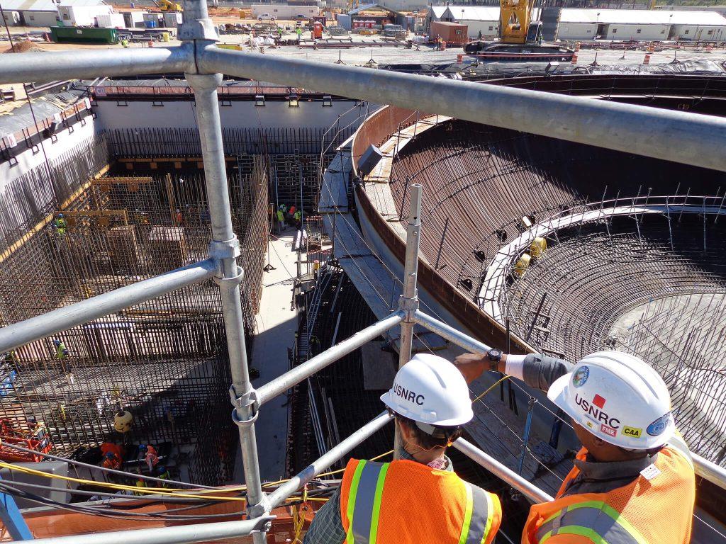 Výstavba americké jaderné elektrárny Vogtle 3; Zdroj: NRC