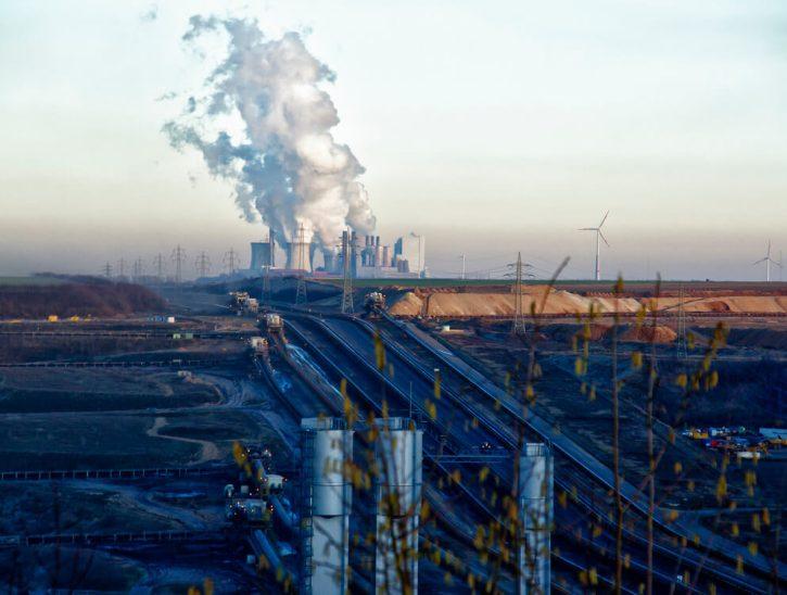 RWE Německo uhelný důl a elektrárna