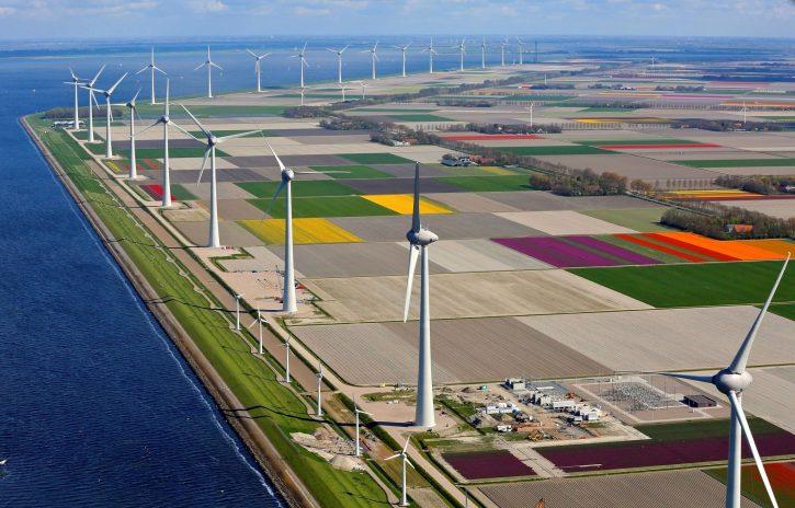Větrná elektrárna společnosti innogy v Nizozemsku