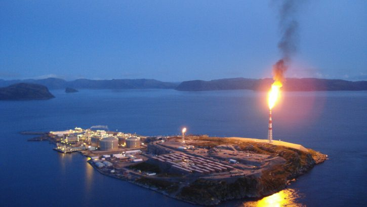 Ostrov Melkøya v Norsku. Autor: Joakim Aleksander Mathisen