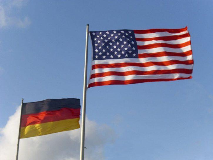 Vlajky Německa a Spojených států
