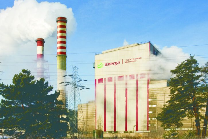 Uhelná elektrárna Ostroleka na severovýchodě Polska. Zdroj: Energa