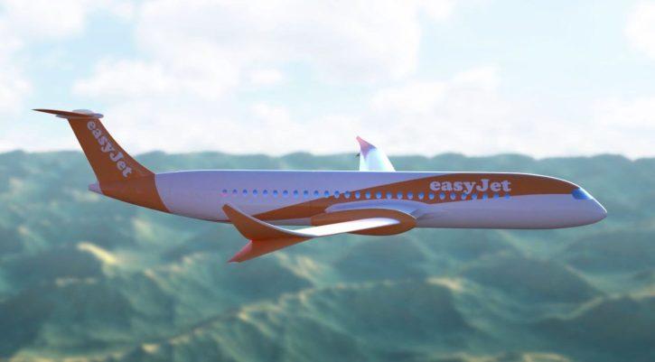 Vizualizace elektřinou poháněného dopravního letadla. Zdroj: Easyjet