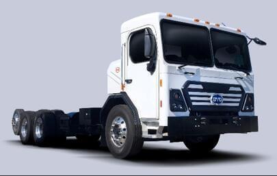 Elektřinou poháněný tahač BYD. Zdroj: http://www.byd.com/usa/truck/