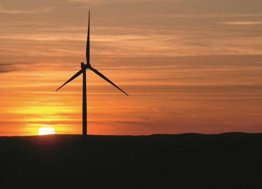 Větrná turbína v americkém státě Severní Dakota. Zdroj: www.siemens.com/press