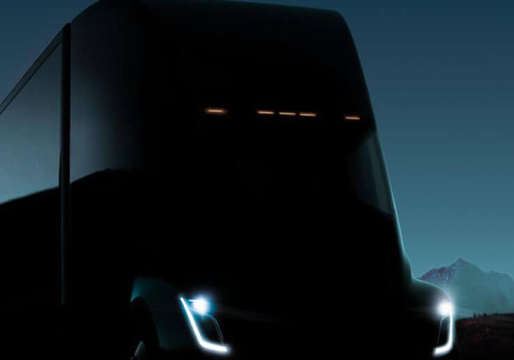 Oficiální upoutávka na představení podoby elektrického nákladního automobilu Tesla Semi. zdroj: techcrunch.com