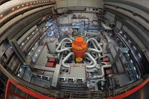 Rychlý sodíkem chlazený reaktor BN-800 je druhý takový v Bělojarské jaderné elektrárně (zdroj Rosenergoato).