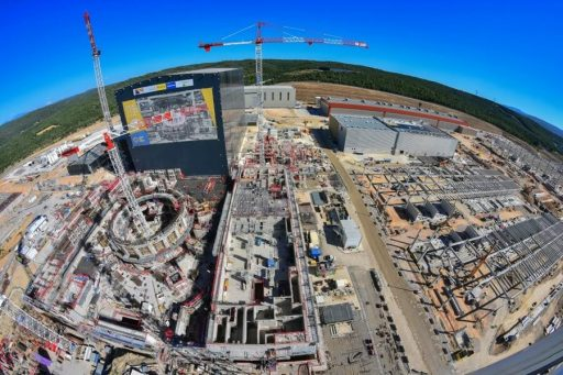 Na budování fúzního reaktoru ITER se intenzivně pracuje a výsledky jsou vidět (zdroj ITER).