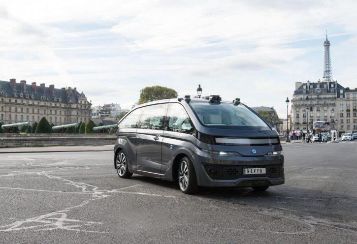 Autonomní elektrické taxi AUTONOM CAB. Zdroj: NAVYA