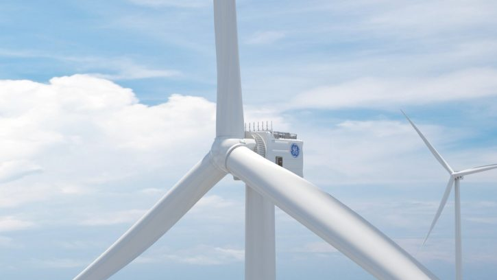 Vizualizace offshore větrných elektráren Haliade-X. Zdroj: GE