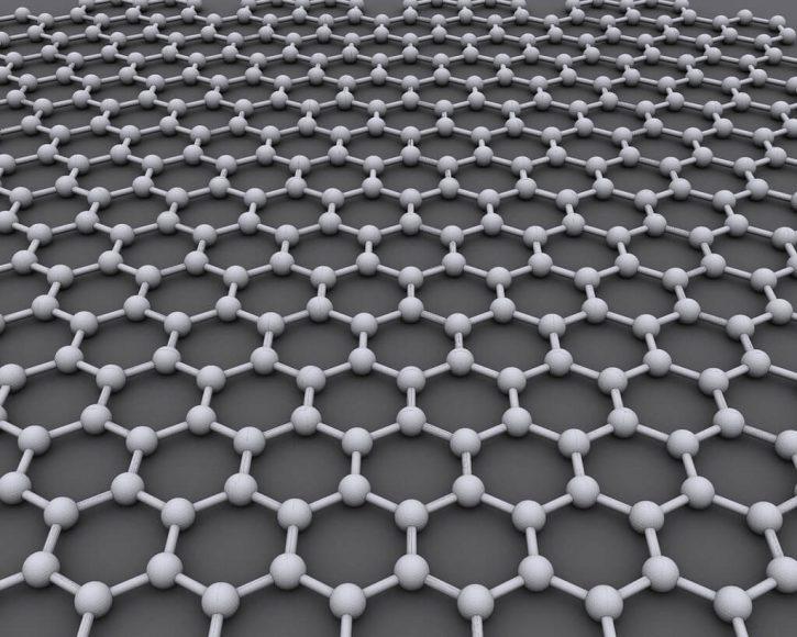 Grafen je tvořen atomy uhlíky, které jsou uspořádány do tenké vrstvy o tloušťce jediného atomu. Autor: CORE-Materials