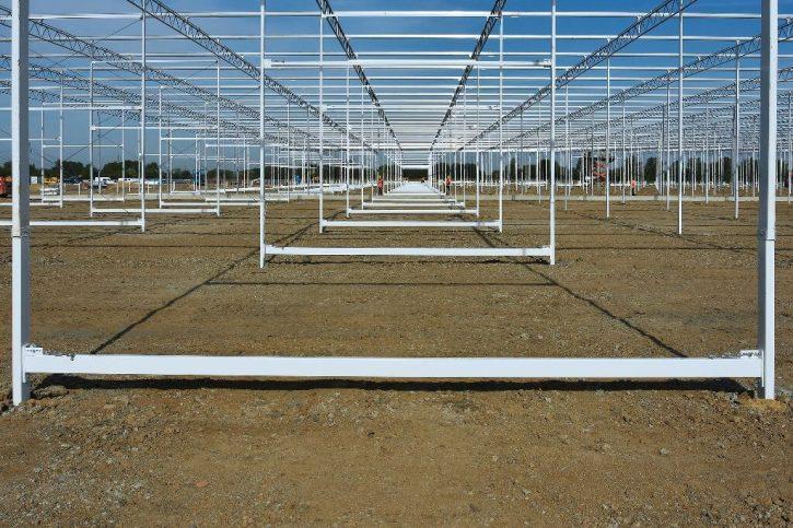 Výstavba skleníku. Zdroj: ČEZ