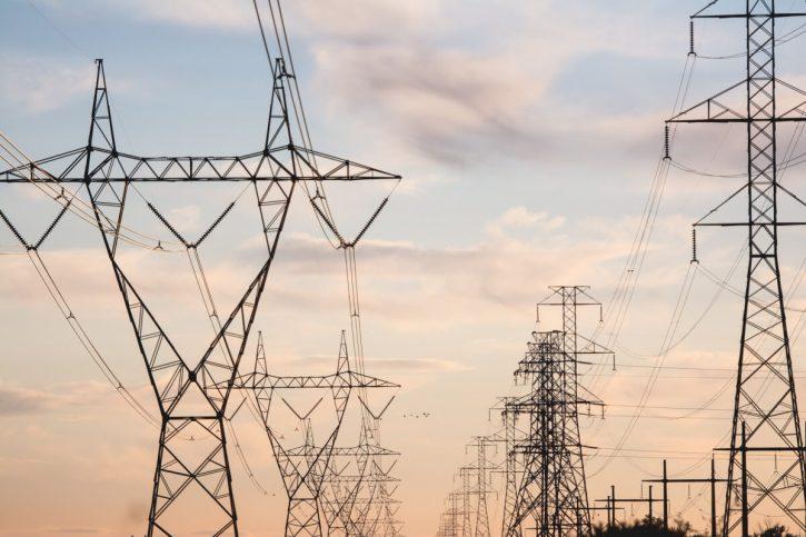 elektrické vedení, sloup
