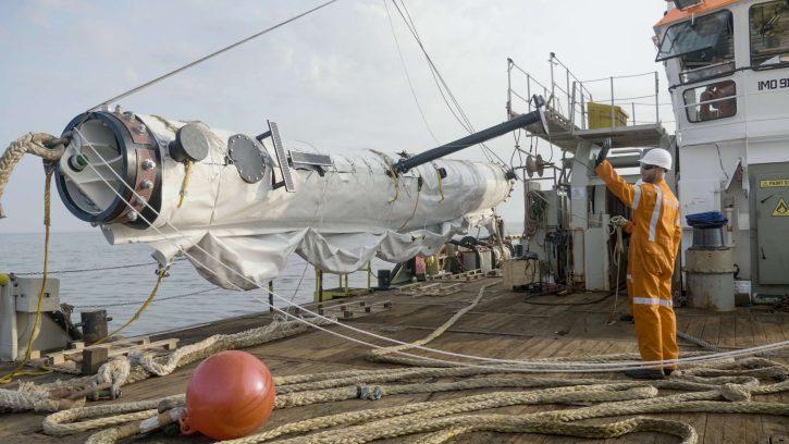 Vypouštění prototypu systému The Ocean Cleanup. Zdroj: www.theoceancleanup.com