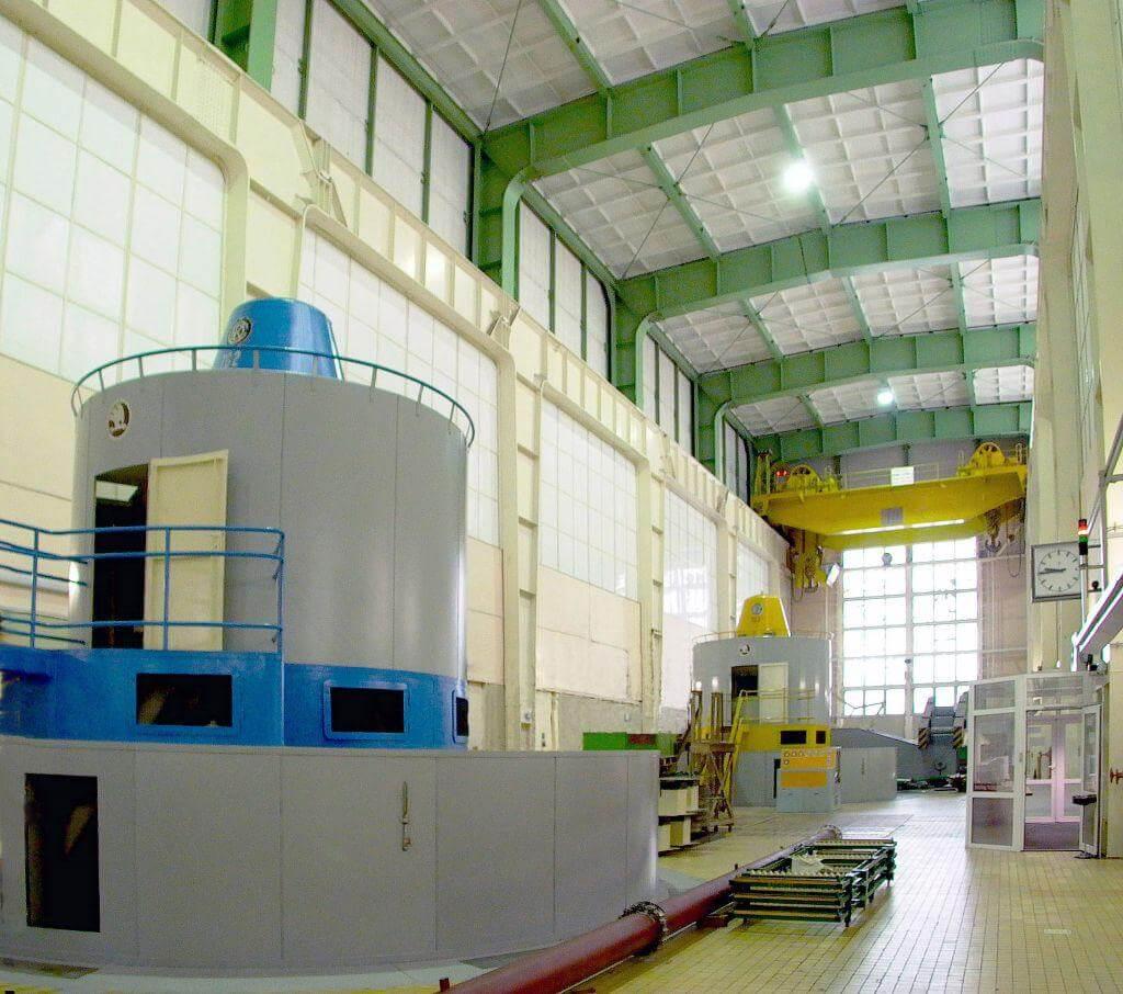 vnitř elektrárny Orlík (zdroj ČEZ)