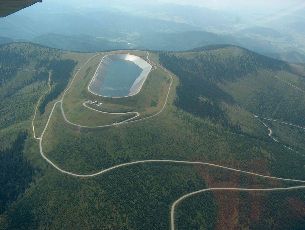 Horní nádrž přečerpávací elektrárny Dlouhé Stráně (zdroj ČEZ)