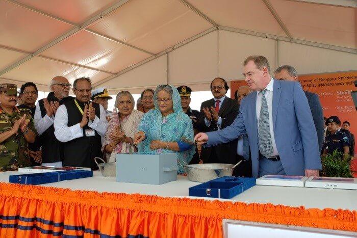 Zahájení betonáže jaderného ostrova u druhého bloku elektrárny Rooppur (zdroj Rosatom).