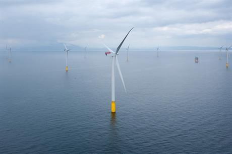 Největší současný mořský větrný park Walney Extension (zdroj Dong Energy)