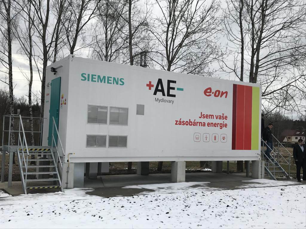 Velkokapacitní úložiště SIESTORAGE od firmy Siemens umístěné vMýdlovarech (zdroj Siemens)