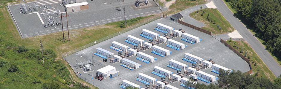 Stephentownské setrvačníkové úložiště vybudované firmou Beacon Power (zdroj Beacon Power)