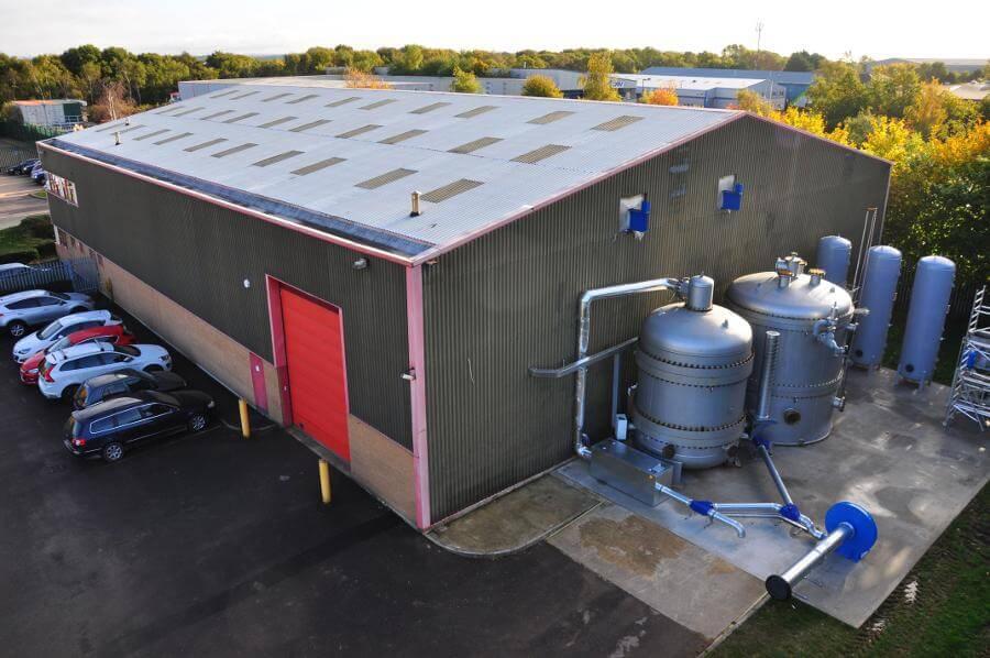 Úložiště využívající přečerpávání tepla PHES ve Farehamu (zdroj National Facility for Pumped Heat Energy Storage)