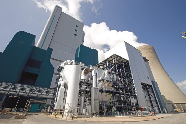 Hnědouhelná elektrárna Niederaußsem společnosti RWE. Zdroj: RWE
