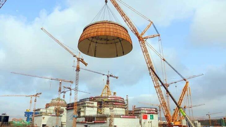 Reaktor Hualong One se buduje také v pákistánské elektrárně Karáčí (zdroj CNNC)