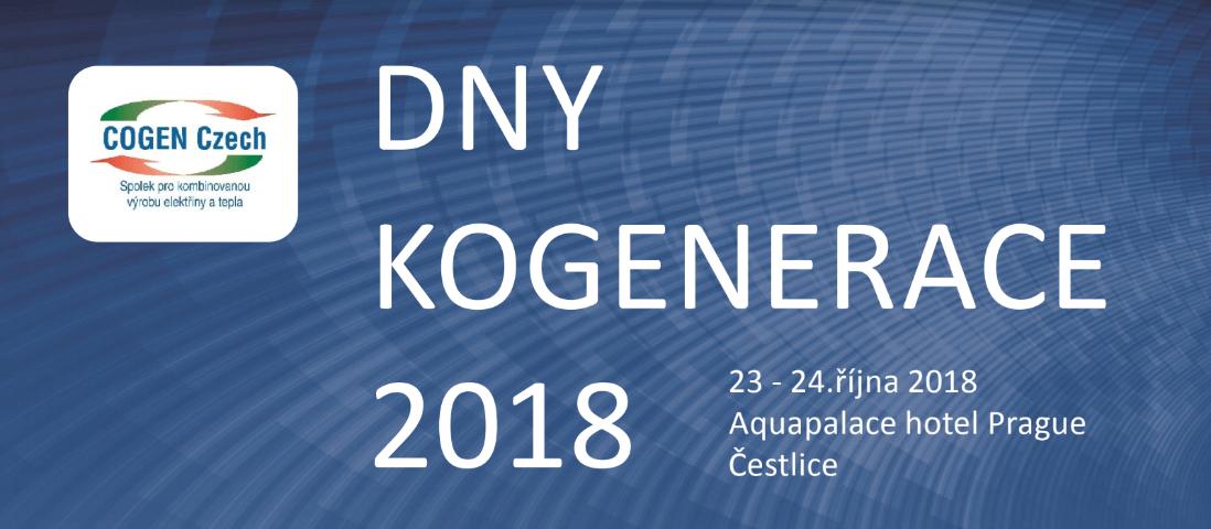 11. ročník konference Dny kogenerace proběhne již 23. a 24. října 2018