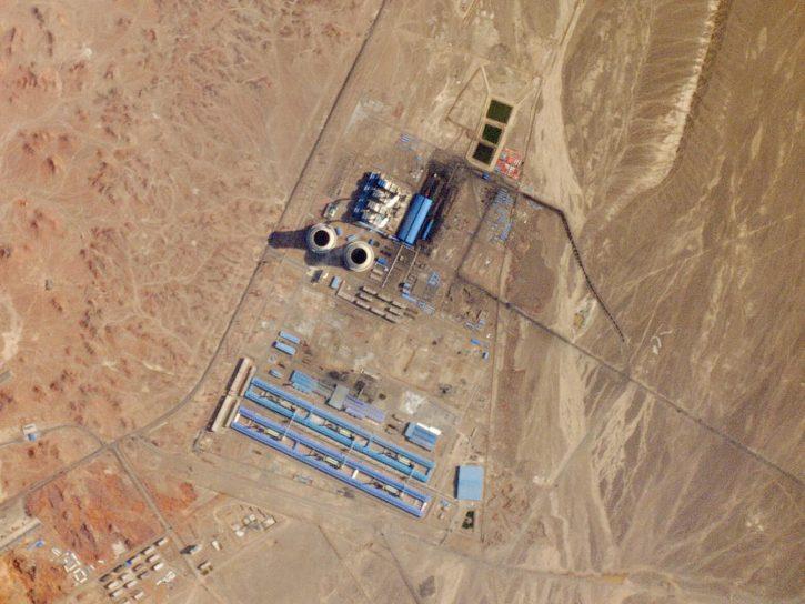 čína, uhelná elektrárna, satelitní snímek. Zdroj: planet.com