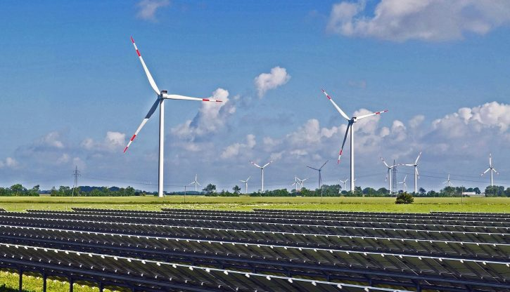 Větrné a solární elektrárny