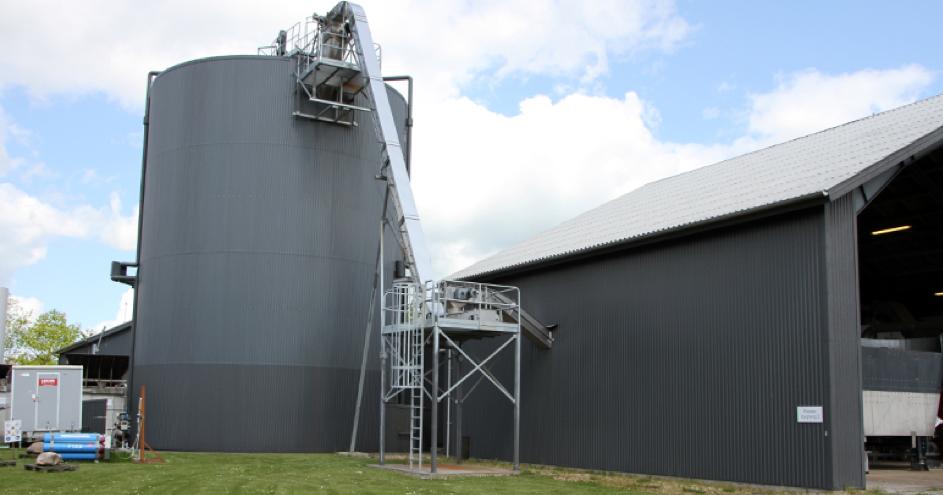 Výzkumná bioplynová stanice ve Foulum (zdroj Bioenergy International).