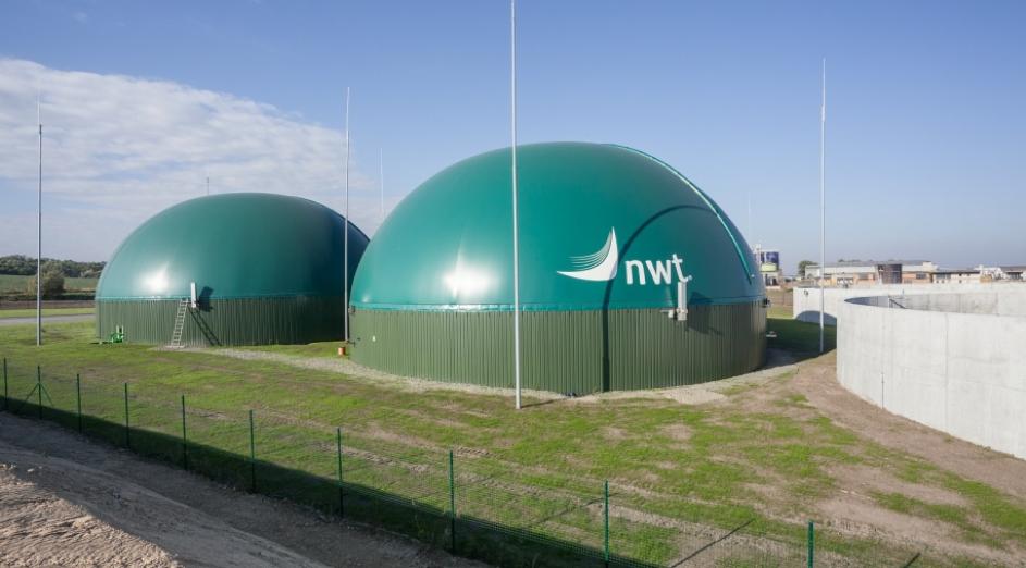 Stavební část bioplynová stanice v Uherčicíc byla realizovaná firmou Navláčil (zdroj Navláčil)